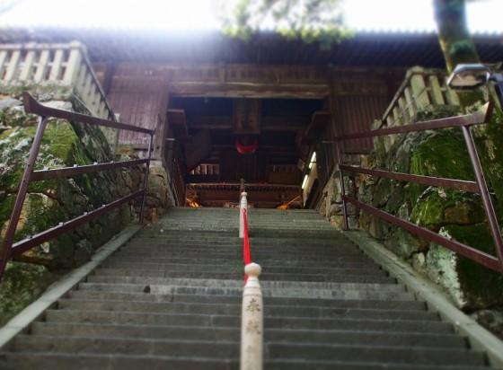 吉備津神社の階段